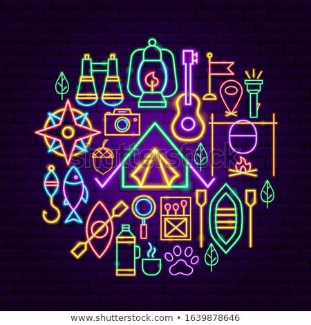 Camping Neon Concept Stock photo © Anna_leni