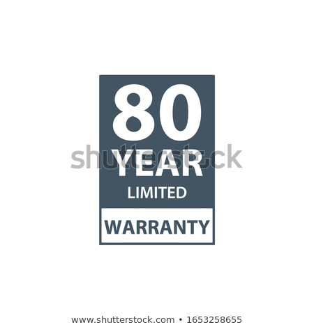 80 years limited warranty icon or label, certificate for customers, warranty stamp or sticker. vecto Stock photo © kyryloff