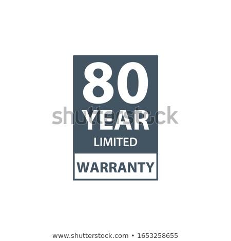 80 年 保証 アイコン ラベル 証明書 ストックフォト © kyryloff