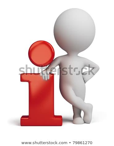 Zdjęcia stock: 3d Small People - Info Icon