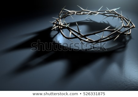 crown of thorns with jesus christ good friday background Stock photo © SArts