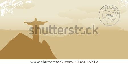 Abstrato Rio de Janeiro linha do horizonte cor edifícios cidade Foto stock © ShustrikS