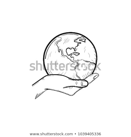 environmentally friendly person icon vector outline illustration Stock photo © pikepicture