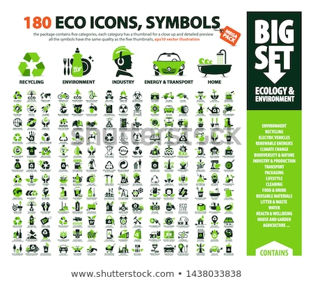 Climate Change Ecology Collection Icons Set Vector Stock photo © pikepicture