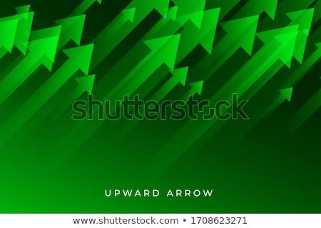 зеленый роста стрелка тенденция бизнеса Сток-фото © SArts