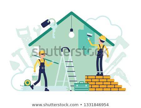 Casa metáforas servicios puerta ventana Foto stock © RAStudio