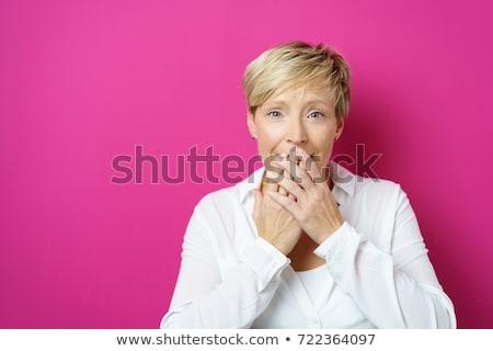 Foto stock: Bastante · feminino · retrato · saudável · vermelho · roupa · interior