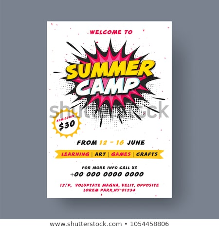 Summer Camp Creative Advertisement Poster Vector Stock photo © pikepicture