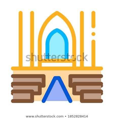 Vista dentro católico iglesia icono vector Foto stock © pikepicture