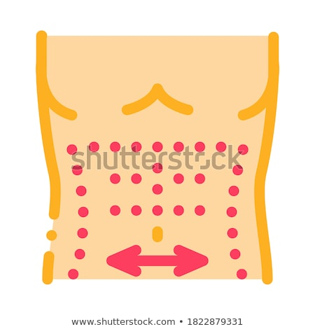 smoothing abdominal muscles icon vector outline illustration Stock photo © pikepicture
