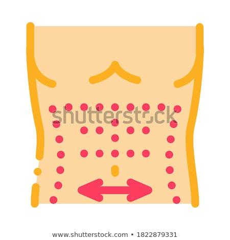 Addominale muscoli icona vettore contorno illustrazione Foto d'archivio © pikepicture
