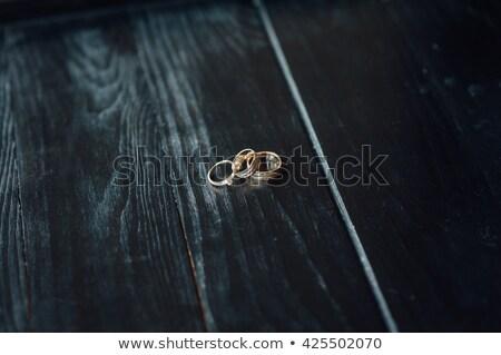 wedding rings on a dense fabric of the chair Stock photo © ruslanshramko