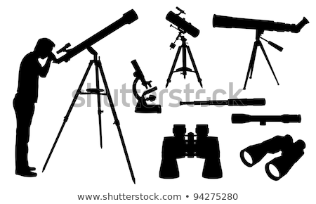 Black silhouette of a telescope Stock photo © mayboro