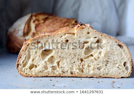 Taze çavdar ekmek beyaz arka plan Stok fotoğraf © yakovlev
