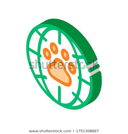 Animal Trail Planet Earth isometric icon vector illustration Stock photo © pikepicture