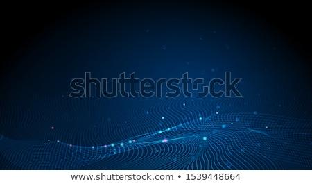 Kék technológia szalag folyik részecske hullám Stock fotó © SArts