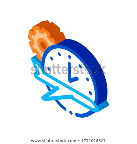 Plane Watch Gear isometric icon vector illustration Stock photo © pikepicture