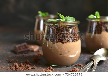Milk pudding with sweet crisp Stock photo © Ansonstock