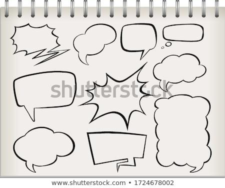 Сток-фото: речи · пузырь · узнать · слово · белый · школы · образование