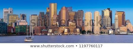 Panorama of Boston Skyline at night Stock photo © backyardproductions