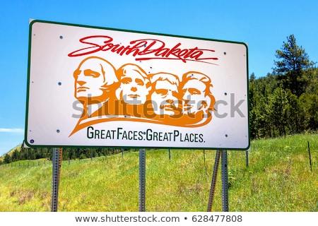 Dél-Dakota autópálya tábla zöld USA felhő utca Stock fotó © kbuntu