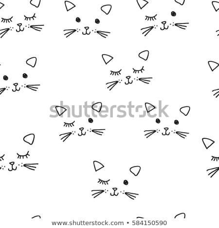 Seamless cat doodle Stock photo © zsooofija