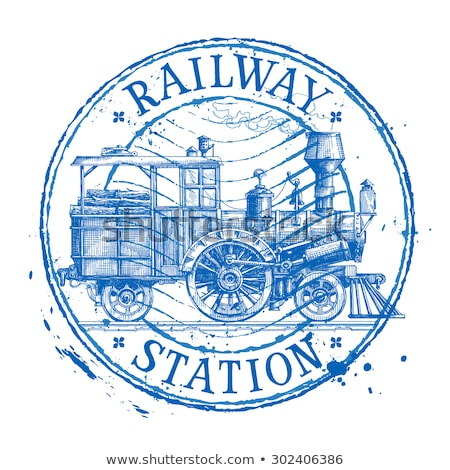 Train Stamps stock photo © Vividrange