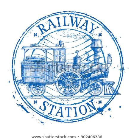 Train Stamps Stock photo © Vividrange