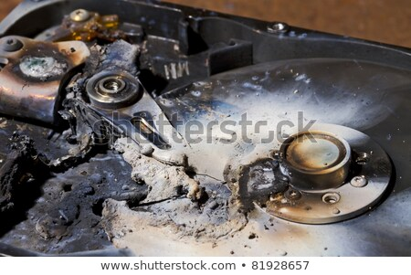 Stockfoto: Burning Hard Drive