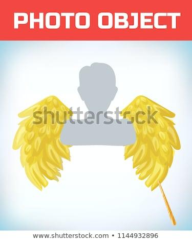 woman in carnival costume angel shape stock photo © pilgrimego