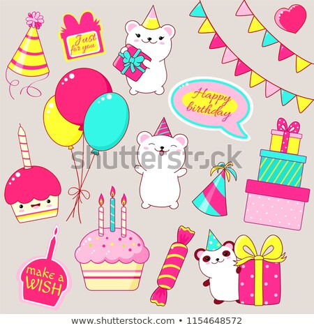 Just for you a party celebration cake with candle Stock photo © darrinhenry