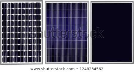 texture of polycrystalline solar cells stock photo © visdia