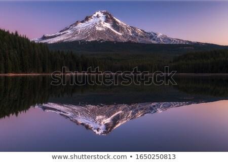 Tó természet hó hegy kék kő Stock fotó © CrackerClips