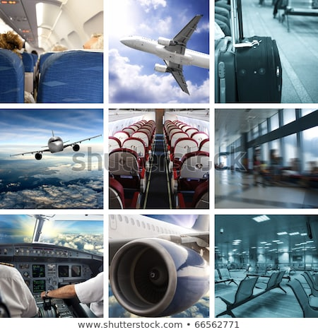collage of airport Stock photo © ssuaphoto