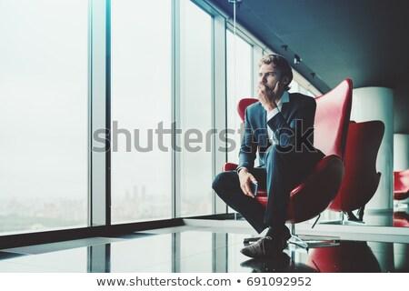 pensive executive businessman stock photo © stryjek