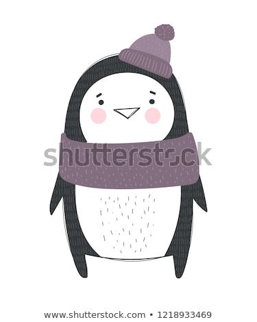 pinguim · isolado · branco · vetor · bebê - foto stock © RAStudio