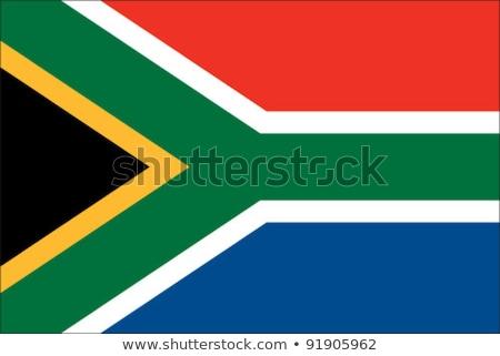 Flagge Südafrika Wind Himmel grünen schwarz Stock foto © cla78