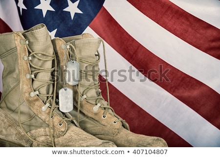 Stock photo: old combat boots