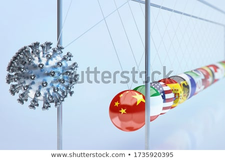 Newton's cradle concept Stock photo © m_pavlov
