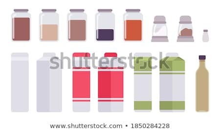 Cartoon · casa · cocina · leche · botella · aislado - foto stock © RAStudio