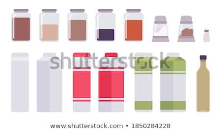 Stock fotó: Cartoon Home Kitchen Milk Bottle