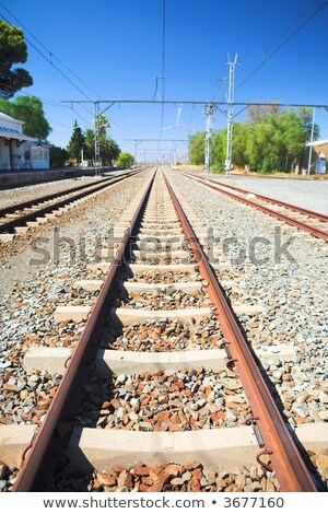 Matjiesfontein train tracks Stock photo © Forgiss