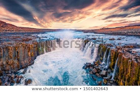 базальт рок водопада реке среде декораций Сток-фото © njaj
