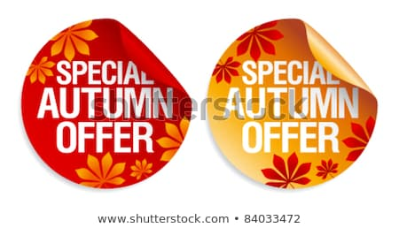 Stok fotoğraf: Best Autumn Offers Stickers Set