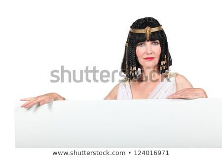 Nő jelmez jelmez tábla kész szöveg Stock fotó © photography33