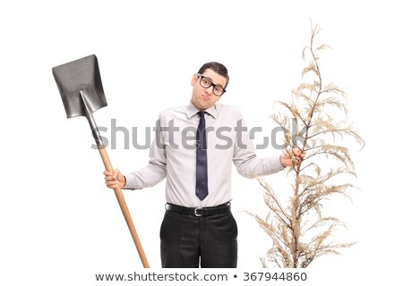 confused gardener holding spade stock photo © photography33