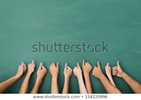 Stockfoto: Thumbs Up On Blackboard