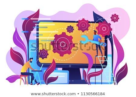 Code of php language on LCD screen Stock photo © simpson33