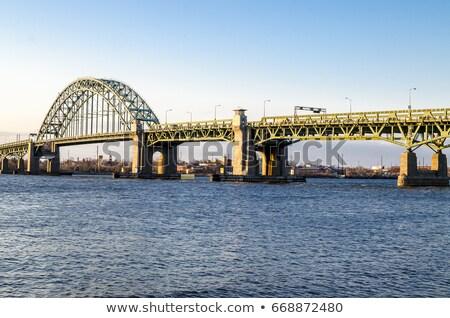 Métal pont Delaware rivière Photo stock © njnightsky