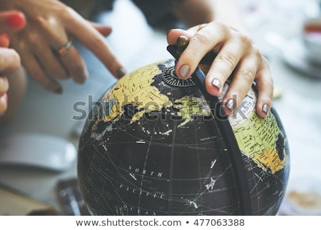 World travel or communications map Stock photo © Krisdog